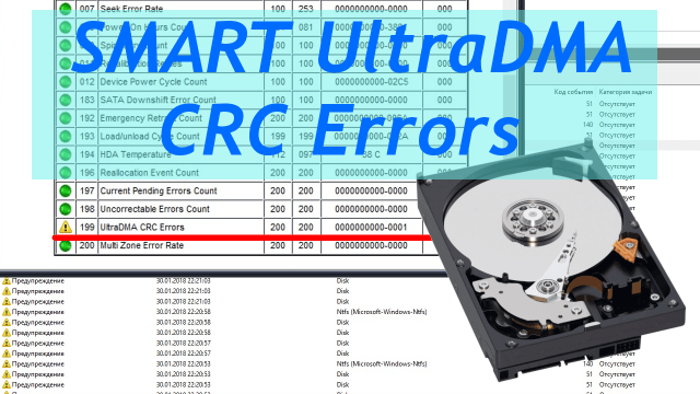 SMART: Ultra DMA CRC error. Одна из миллиона возможных причин зависаний компьютера
